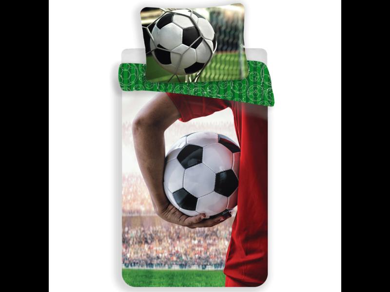 Voetbal Duvet cover - Single - 140 x 200 cm - Multi
