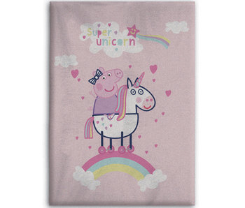 Peppa Pig Fleeceplaid Unicorn 100 x 140 cm