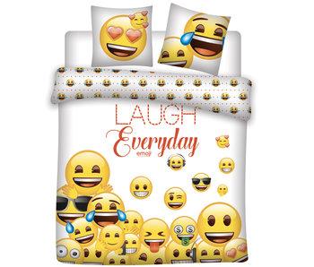 Emoji Bettbezug Lachen jeden Tag 240 x 220 cm