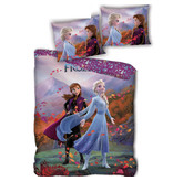 Disney Frozen Dekbedovertrek - Eenpersoons - 140 x 200 cm - polyester