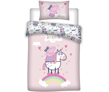 Peppa Pig Dekbedovertrek Unicorn 140 x 200