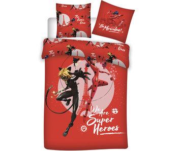 Miraculous Housse de couette Superheroes 140 x 200