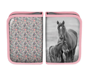 Animal Pictures Filled pencil case horses 19.5 cm
