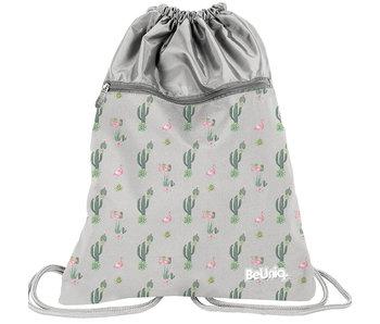 BeUniq Cactus en flamingo gymbag 47x37