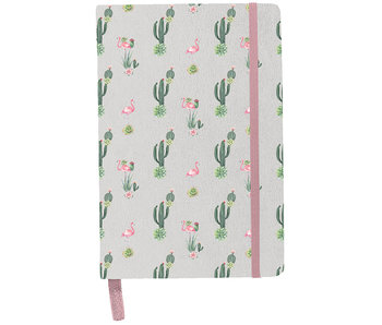 BeUniq Notebook cactus and flamingo A5