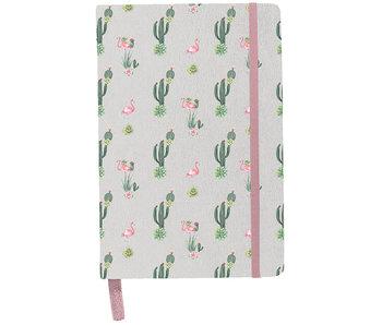 BeUniq Notitieboekje cactus en flamingo A5