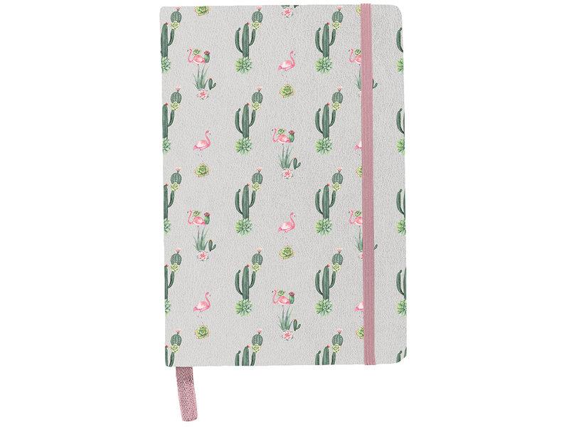 BeUniq Cactus et flamant rose - carnet - A5 - Multi