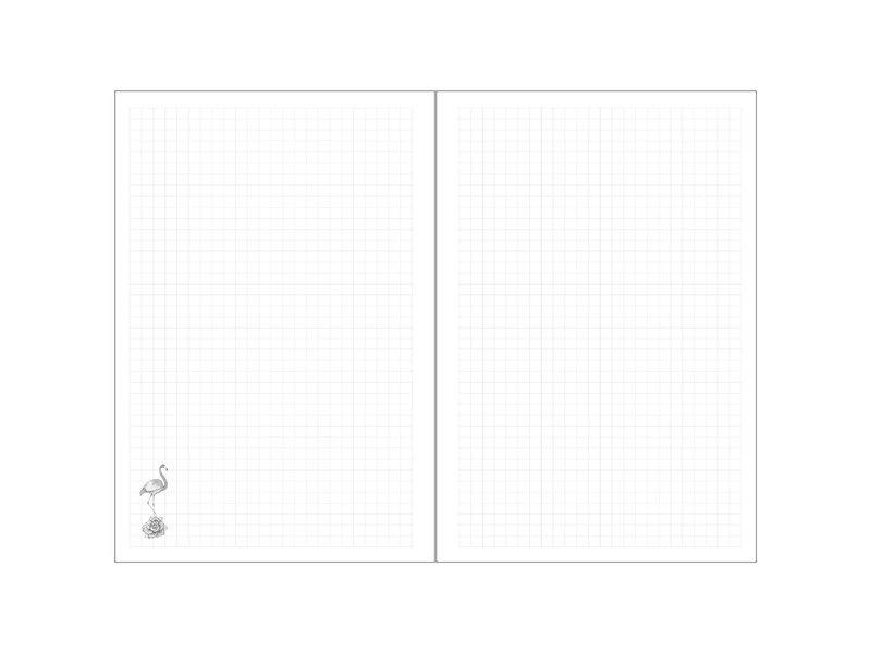 BeUniq Cactus en flamingo - notitieboekje - A5 - Multi