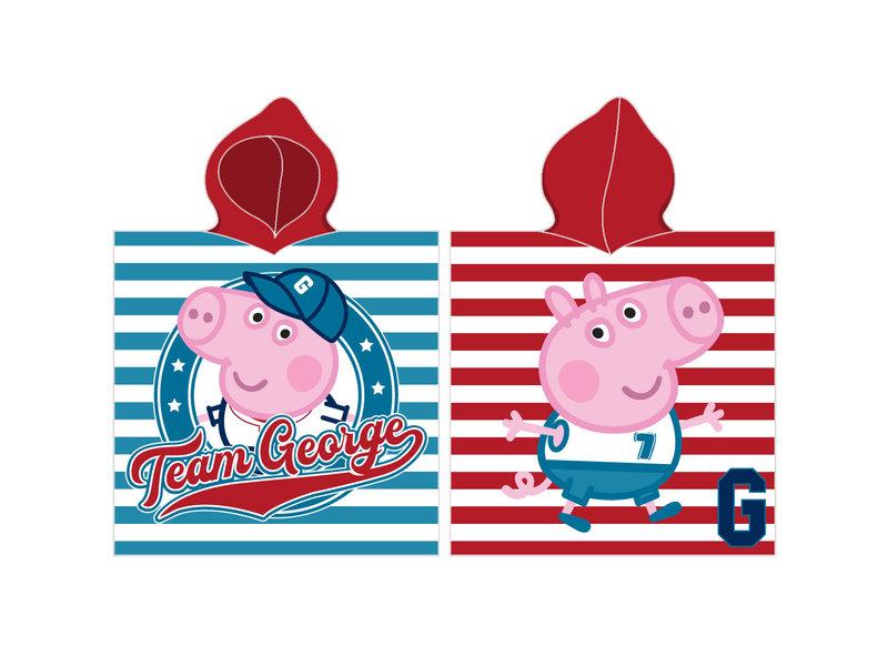 Peppa Pig Team George - poncho - 50 x 115 cm - Multi