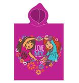 Dora Love my friends - poncho - 50 x 115 cm - Multi