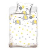 Olifant - Baby Dekbedovertrek - 100 x 135 cm - Wit