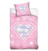 Superman - Baby Dekbedovertrek - 100 x 135 cm - Roze