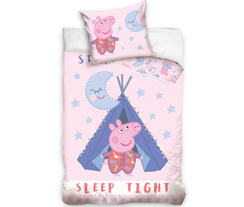 Peppa Pig Dekbedovertrek Sleep Tight - 140 x 200 cm