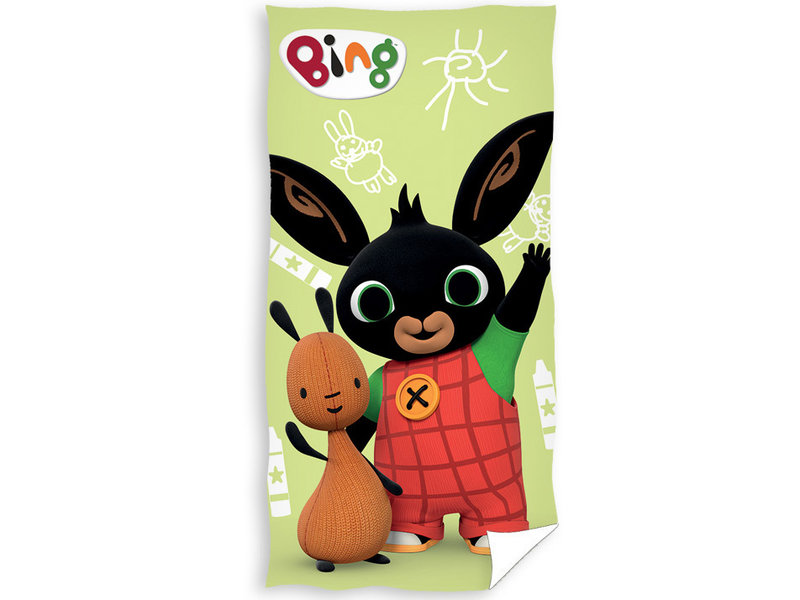 Bing Bunny Serviette de plage Hello - 70 x 140 cm - Multi
