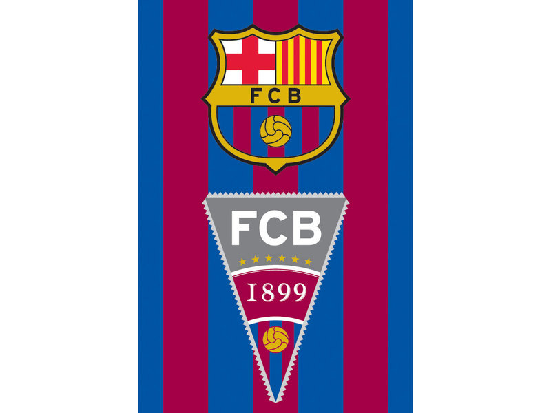 FC Barcelona Strandlaken Vlag - 70 x 140 cm - Multi