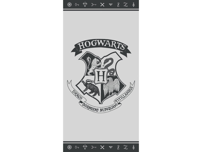 Harry Potter Beach towel Hogwarts - 70 x 140 cm - Multi
