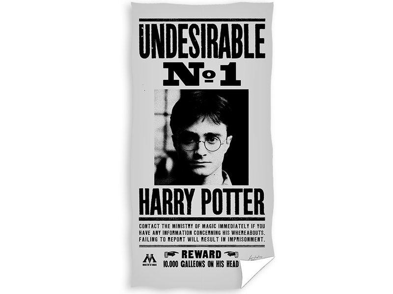 Harry Potter Beach towel Wanted - 70 x 140 cm - Multi