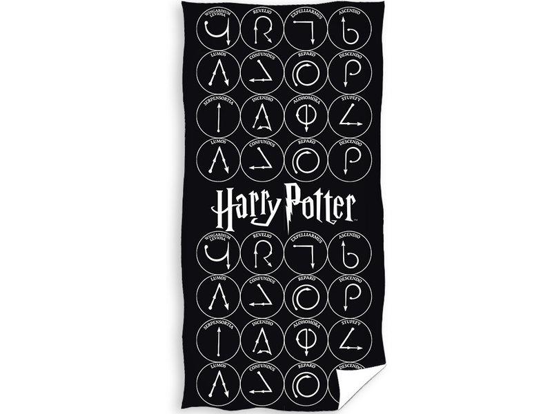 Harry Potter Beach towel Magic - 70 x 140 cm - Black