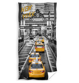 New York Serviette de plage Yellow Cab - 70 x 140 cm - Multi