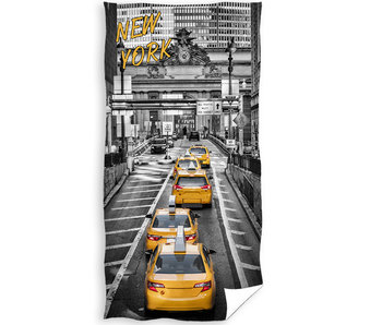 New York Beach towel Yellow Cab 70 x 140 cm