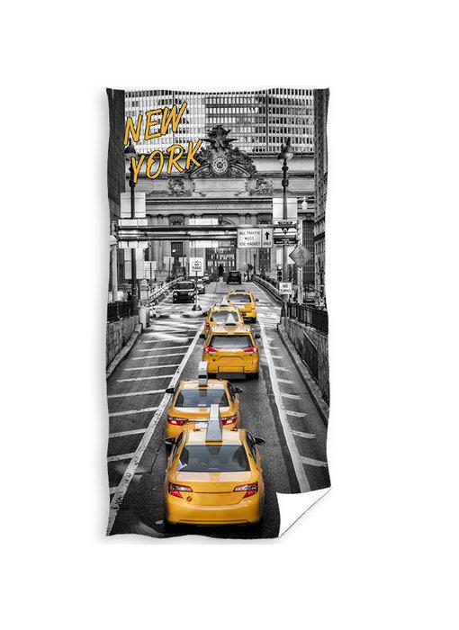 New York Strandlaken Yellow Cab 70 x 140 cm