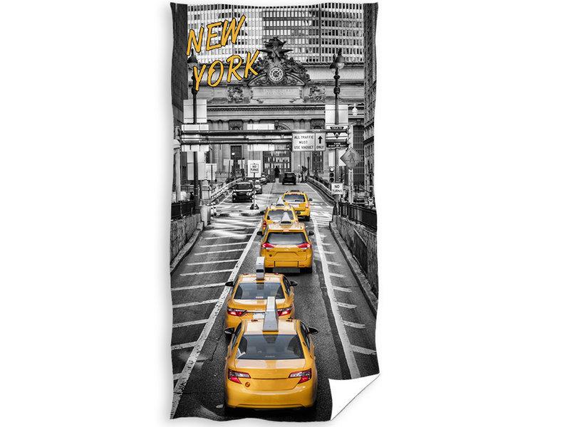 New York Beach towel Yellow Cab - 70 x 140 cm - Multi