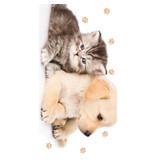 Animal Pictures Strandlaken Puppy en Kitten - 70 x 140 cm - Multi