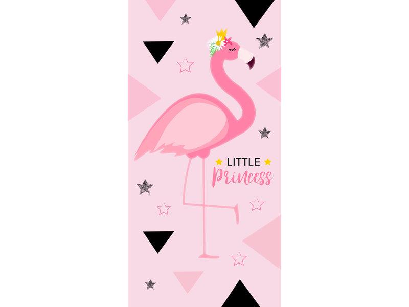 Flamingo Serviette de plage Little Princess - 70 x 140 cm - Rose
