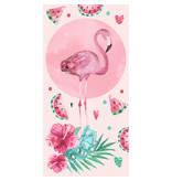 Flamingo Strandtuch Pink - 70 x 140 cm - Pink