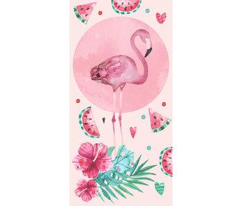 Flamingo Serviette de plage Rose 70 x 140 cm