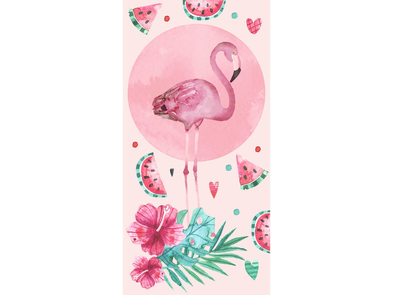 Flamingo Beach towel Pink - 70 x 140 cm - Pink