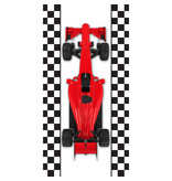 Formule-1 Serviette de plage voiture de course - 70 x 140 cm - Multi