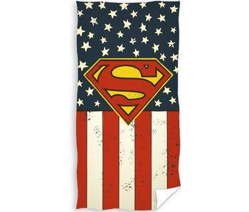 Superman Strandtuch Flagge 70 x 140 cm