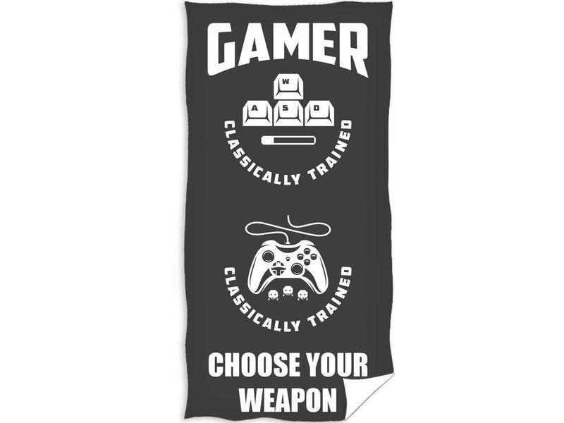 Game Serviette de plage Weapon - 70 x 140 cm - Noir