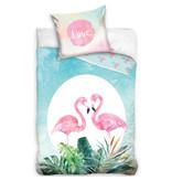 Flamingo Bettbezug Love - Single - 140 x 200 cm - Multi