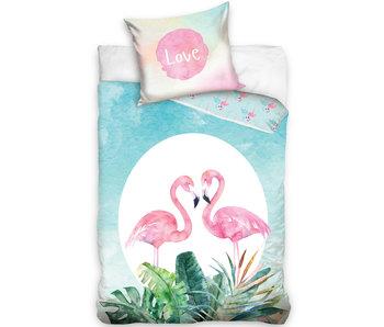 Flamingo Duvet cover Love 140 x 200