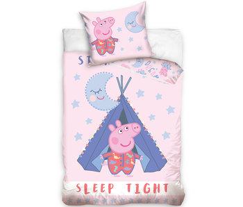Peppa Pig Housse de couette Sleep Tight - 140 x 200 cm