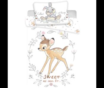 Disney Bambi Baby Bettbezug Sweet 100x135 + 40 / 60cm Baumwolle