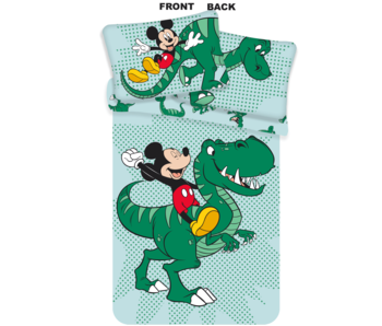 Disney Mickey Mouse Baby Bettbezug Dino 100x135 + 40 / 60cm Baumwolle