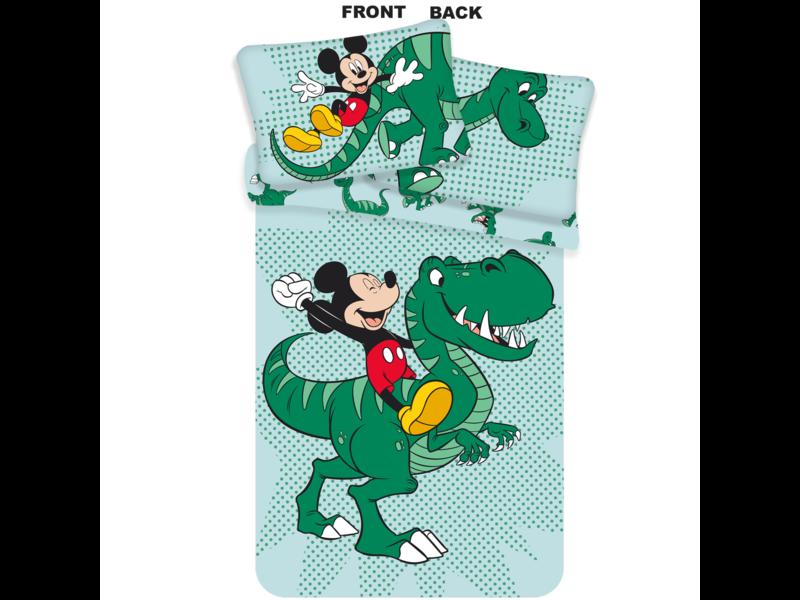 Disney Mickey Mouse Dino Baby Dekbedovertrek - 100 x 135 cm - Multi