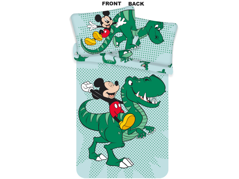 Disney Mickey Mouse Housse de couette Dino Baby - 100 x 135 cm - Multi
