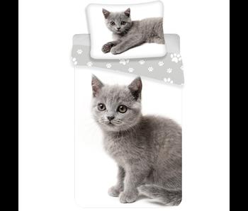 Animal Pictures Dekbedovertrek Grijze Kitten 140 x 200