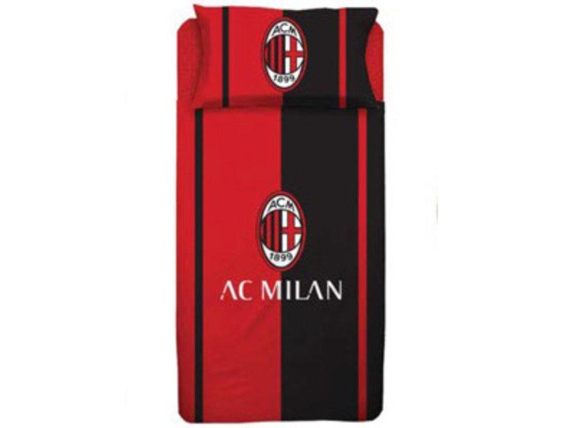 AC Milan Dekbedovertrek - Eenpersoons - 140  x 200 cm - Rood