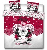 Disney Minnie Mouse Duvet cover Love You - Lits Jumeaux - 240 x 220 cm - Red