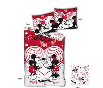 Disney Minnie Mouse Bettbezug Love You 140 x 200
