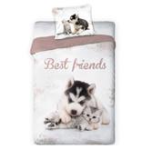 Animal Pictures Dekbedovertrek Best Friends - Eenpersoons - 140  x 200 cm - Multi