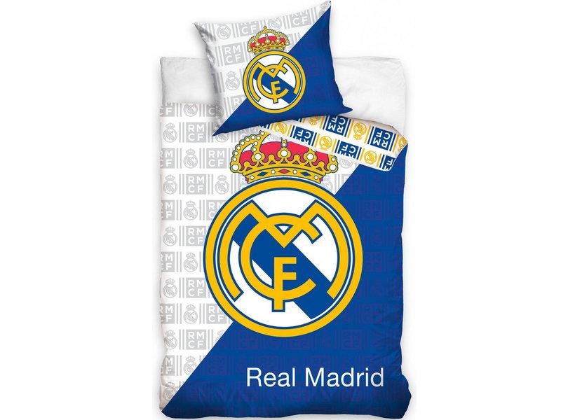 Real Madrid Housse de couette - Unique - 140 x 200 cm - Multi