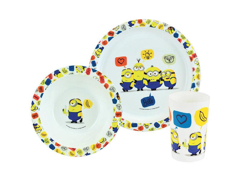 Minions Frühstücksset Icons - 3 Stück - Multi
