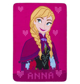 Disney Frozen Rose Anna Fleece plaid - 140 x 100 cm - Pink