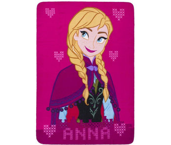 Disney Frozen Plaid polaire Rose Anna 140 x 100 cm